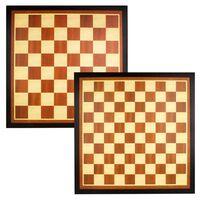 Abbey Game Schach-/Damebrettspiel + Holzspielbrett Braun/Ecru 49CG