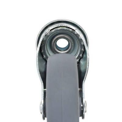 vidaXL 8 Stk. Lenkrollen mit Rückenloch 100 mm