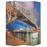vidaXL Raumteiler klappbar 160 x 170 cm Sydney Harbour Bridge
