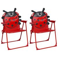 vidaXL Kinder-Gartenstühle 2 Stk. Rot Stoff