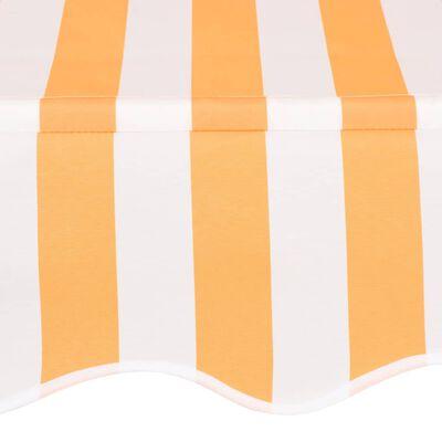 vidaXL Einziehbare Markise Handbetrieben 200 cm Gelb/Weiß Gestreift