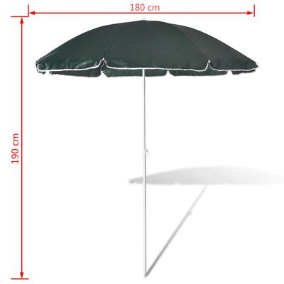 180cm Sonnenschirm Strandschirm Schirm Grün