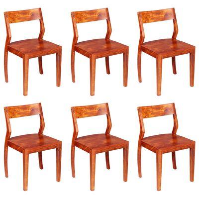vidaXL Esszimmerstühle 6 Stk. Akazienholz Massivholz
