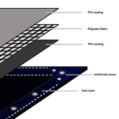 vidaXL Abdeckplane 650 g/m² 3x3 m Grau