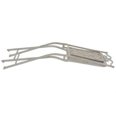 vidaXL 3-tlg. Bistro-Set Stahl Grau