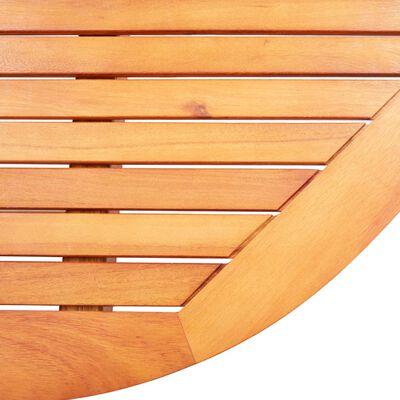 vidaXL 9-tlg. Garten-Essgruppe Eukalyptus Massivholz und Textilene