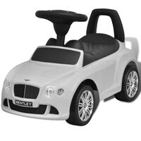 vidaXL Bentley Kinderauto mit Fußantrieb Weiß