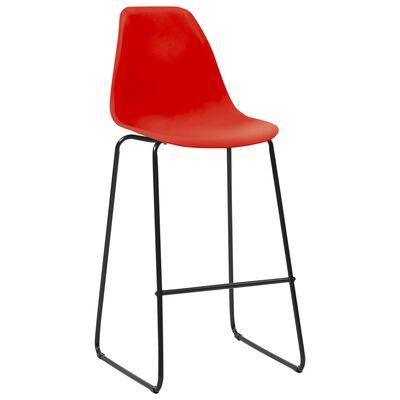 vidaXL 5-tlg. Bar-Set Kunststoff Rot
