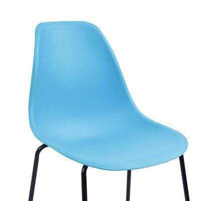 vidaXL 5-tlg. Bar-Set Kunststoff Blau