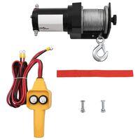 vidaXL 12 V Elektrische Seilwinde 907 kg Kabel-Fernbedienung