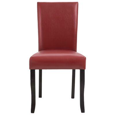 vidaXL Esszimmerstühle 4 Stk. Weinrot Kunstleder