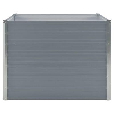 vidaXL Hochbeet 100 x 100 x 77 cm Verzinkter Stahl Grau