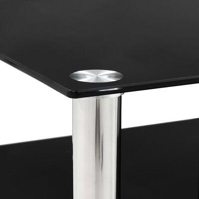 vidaXL TV-Tisch Schwarz 90 x 40 x 40 cm Gehärtetes Glas