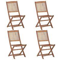 vidaXL Klappbare Gartenstühle 4 Stk. Massivholz Akazie