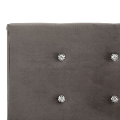 vidaXL Bett mit Matratze Grau Samt 160 x 200 cm