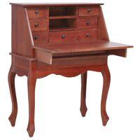 vidaXL Sekretär Braun 78×42×103 cm Massivholz Mahagoni