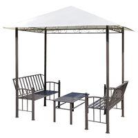 vidaXL Gartenpavillon mit Tisch und Bänken 2,5 x 1,5 x 2,4 m