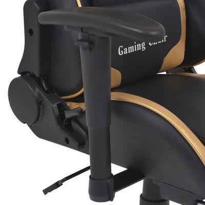 vidaXL Bürostuhl Gaming-Stuhl Neigbar mit Fußstütze Gold