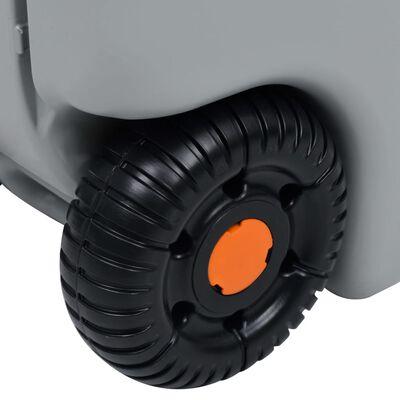 vidaXL Camping-Wassertank mit Rollen 25 L Grau