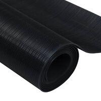 Gummi-Bodenmatte Antirutschmatte 5 x 1 m feingerippt