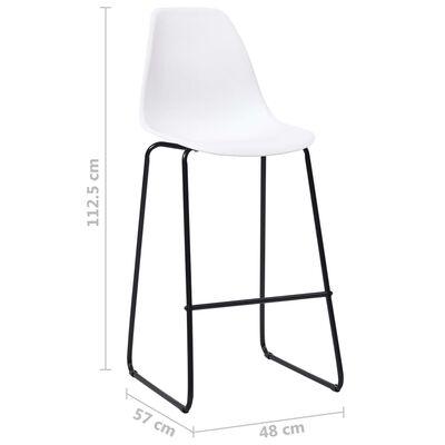 vidaXL 3-tlg. Bar-Set Kunststoff Weiß