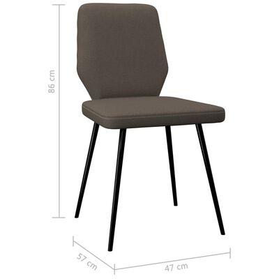 vidaXL Esszimmerstühle 6 Stk. Taupe Stoff