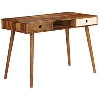 vidaXL Schreibtisch 110 x 55 x 76 cm Massivholz