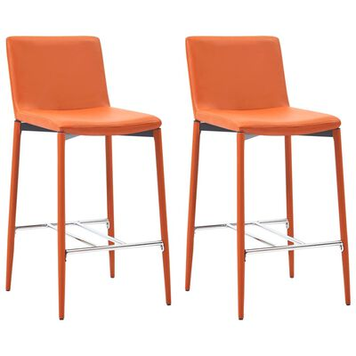 vidaXL 3-tlg. Bar-Set Kunstleder Orange