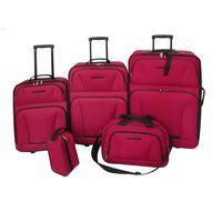 vidaXL Reiseset Kofferset 5-teilig Rot