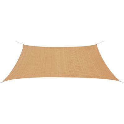 vidaXL Sonnensegel HDPE Rechteckig 2x4 m Beige