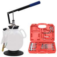 vidaXL Manueller Öleinfüller für Automatikgetriebe + Werkzeuge 7,5 L