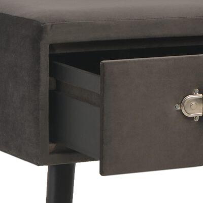 vidaXL Bank mit Schubladen 80 cm Grau Samt