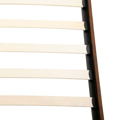 vidaXL Bett mit Memory-Schaum-Matratze Wildleder-Optik 180 x 200 cm