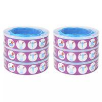vidaXL Nachfüllkassetten für Windeleimer Angelcare Diaper Genie 6 Stück