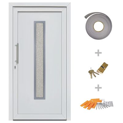 vidaXL Haustür Weiß 98×208 cm