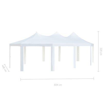 vidaXL Pavillon 834 x 448 x 320 cm Weiß