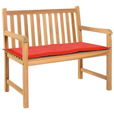 vidaXL Gartenbank-Auflage Rot 100 x 50 x 3 cm