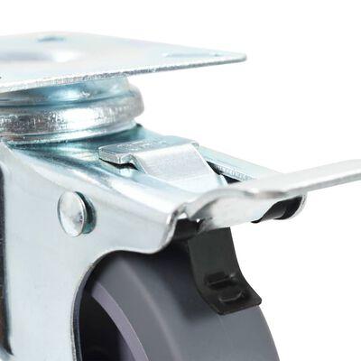 vidaXL 16 Stk. Lenkrollen 75 mm