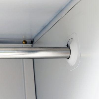 vidaXL Schließfachschrank mit 3 Fächern Stahl 90x45x180 cm Grau