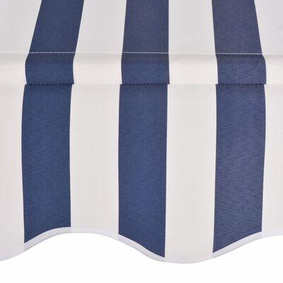 vidaXL Einziehbare Markise Handbetrieben 200 cm Blau/Weiß Gestreift
