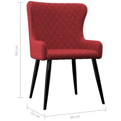 vidaXL Esszimmerstühle 4 Stk. Burgunderrot Stoff