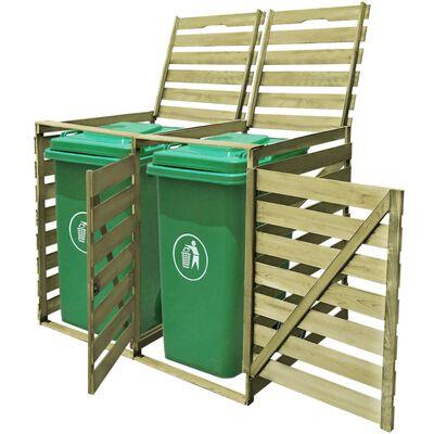 vidaXL Mülltonnenbox für 2 Tonnen 240 L Imprägniertes Holz