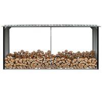 vidaXL Brennholzlager Verzinkter Stahl 330 x 92 x 153 cm Anthrazit