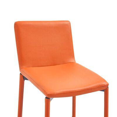 vidaXL Barhocker 6 Stk. Orange Kunstleder