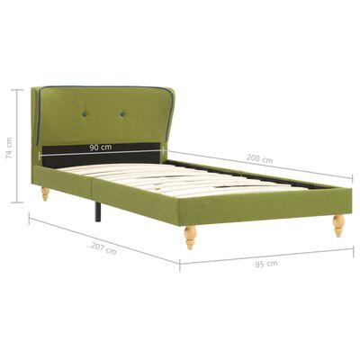vidaXL Bett mit Matratze Grün Stoff 90 x 200 cm