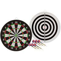 Abbey Darts Doppelseitige Dartscheibe + 2 Dartpfeile-Sets 52AZ-UNI-Uni