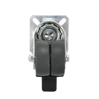 vidaXL 12 Stk. Zwillings-Lenkrollen 50 mm
