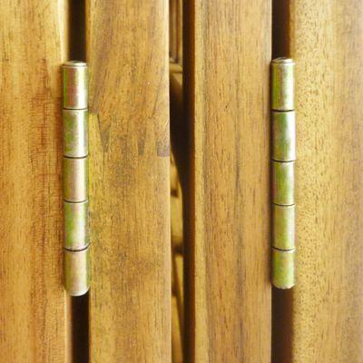 vidaXL 4-teiliger Paravent Spalier Akazie Massivholz 160×170 cm