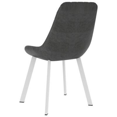 vidaXL Esszimmerstühle 4 Stk. Grau Kunstleder