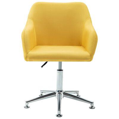 vidaXL Esszimmerstühle Drehbar 4 Stk. Gelb Stoff